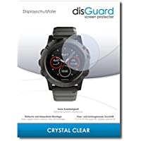 "2 x disGuard® Screen Protector Garmin fenix 5X Screen Protection Film ""CrystalClear"" invisible"