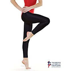 Tappers and punteros de Adultos diseño de Nailon/Lycra Leggings/Medias, Negro