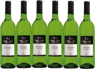 Pfaffenweiler Weinhaus Klassik Rivaner Qualitätswein trocken (6 x 0,75L)