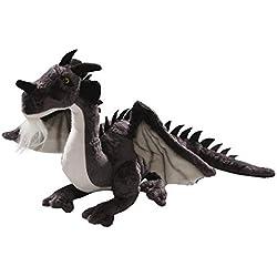 Carl Dick Peluche - Dragón Negro Sentado (Felpa, 30cm) [Juguete] 2626004