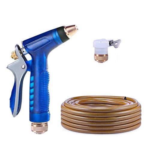 Pistolet De Pulvérisation d'eau De Lavage De Voiture Artefact Tuyau Haute Pression À La Maison pour Raccorder Le Robinet (Color : Blue, Size : 20m)