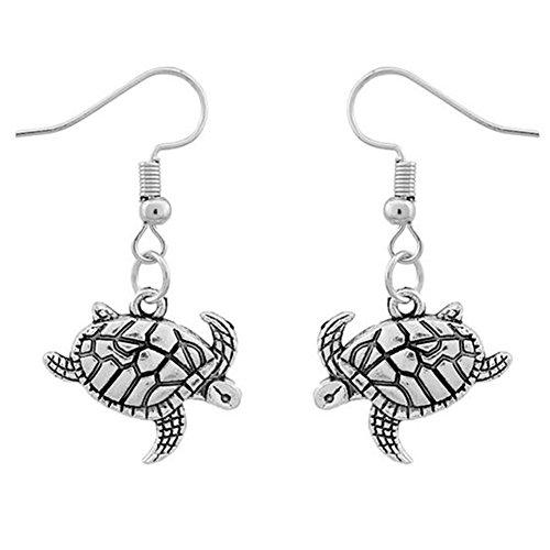 JUNGEN Schildkröte Anhänger Ohrringen Frauen Ohrringe Vintage Silber Schmuck Zubehör Legierung Ohrhänger