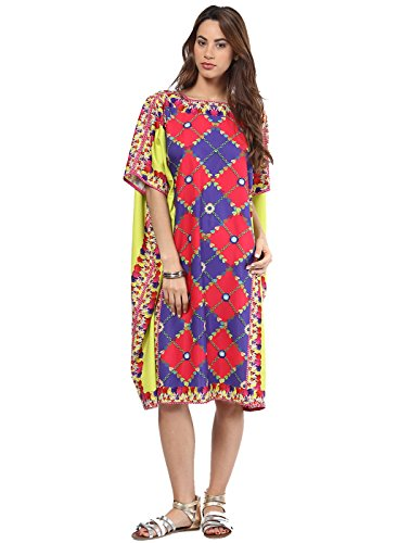 Preeti S Kapoor Multicoloured Colored Printed Kaftan
