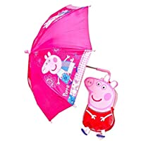 Trade Mark Collections Ltd for Peppa Pig 3D Style Splashproof Backpack and Easy Clean Umbrella Set Children