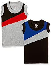 Rupa Frontline Kids Boys' Cotton Vest (Pack of 2)(Colors & Print May Vary)