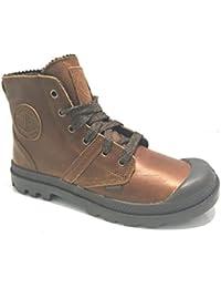 Palladium - Zapatillas de Piel para hombre marrón caoba