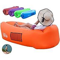 FANCYOUT: Tumbona Hinchable, Hamaca portátil para sofá de Aire, Bolsa de Aire Resistente