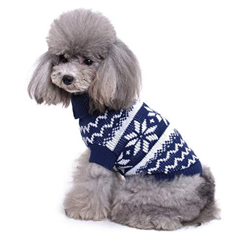 DingDing Pet Kleidung * Hund Kleidung Weihnachten Schneeflocke Elch Halloween Pullover (Farbe : H, größe : M) (M-halloween-outfits H Und)
