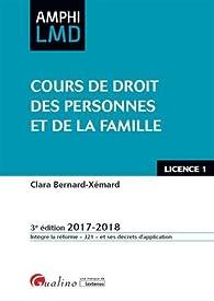 Cours de droit des personnes et de la famille par Clara Bernard-Xémard