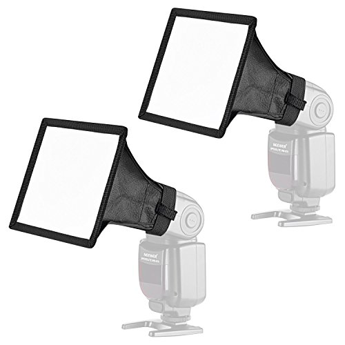 Neewer 2pz Diffusore 15x13cm per Speedlite Softbox Flash per Canon 580EX II 600EX-RT, YongNuo YN560 III, Nikon SB-900 SB-910, Neewer TT560 TT520 TT660 & Altri Flash di Reflex Digitali