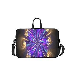 Computer Generated Fractal Artwork Creative Artdesign Briefcase Laptop Bag Messenger Shoulder Work Bag Crossbody Handbag For Business Travelling