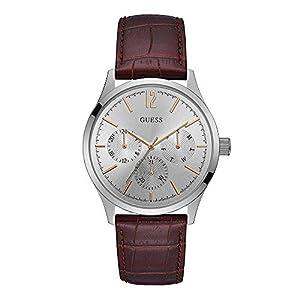 Guess Reloj Analógico para Hombre de Cuarzo con Correa en Piel W1041G1