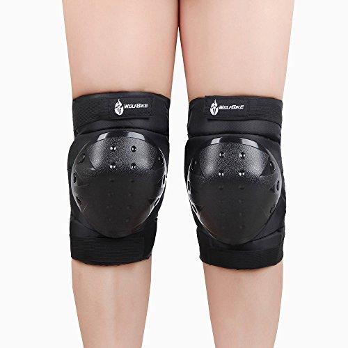 EverTrust (TM) per il Regno Unito di alta qualità Sport Ginocchiere Ginocchiere rotula Kneelet PVC ginocchio Protector ghiaccio Sci Snowboard Nero