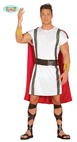 antiker Römer Karneval Motto Party Kostüm für Herren rot weiß Gold Gr. M-XL, - Rotes Motto Party Kostüm
