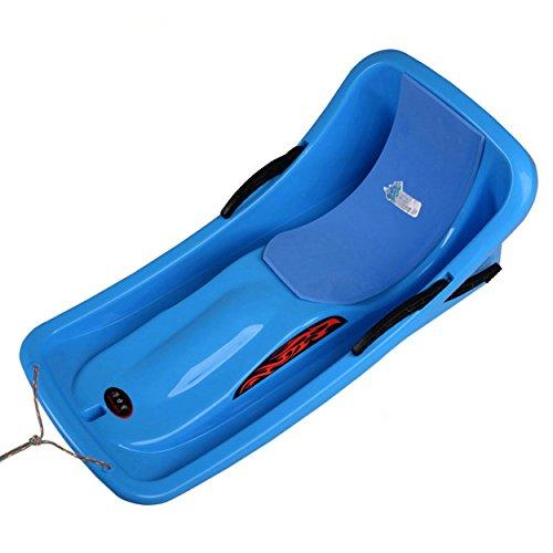 toysland Schnee Schlitten Boot Toboggan Schlitten Glider mit Bremsen Downhill Sprinter Winter Toboggan, 91,4cm L x 45,7cm W x 35,6cm H, Blau