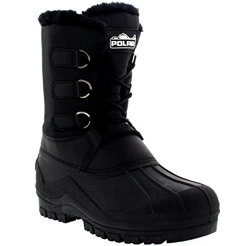 Polar Womens Muck Lace Up Nylon Ankle Duck Waterproof Durable Outdoor Boots - 7 - BLK40 YC0140