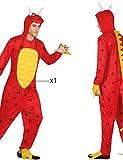 Atosa-26642 Disfraz Dragón, Color Rojo, M-L (26642)