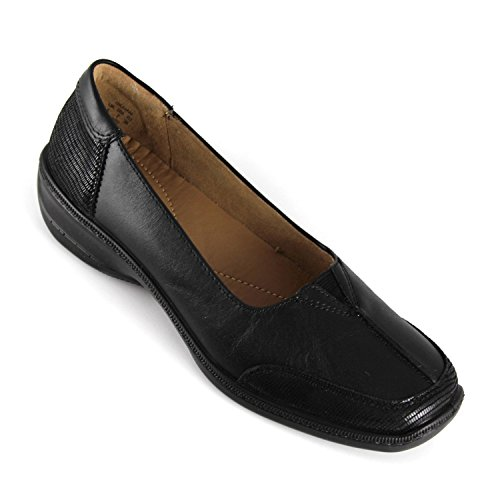 Hotter Gillian Womens Leather Shoe - Black - 5.5 UK