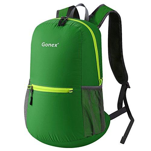 20L Leichter Tagesrucksack, Gonex Unisex Faltbarer Rucksack für Outdoor Wandern Reisen (Grün) -