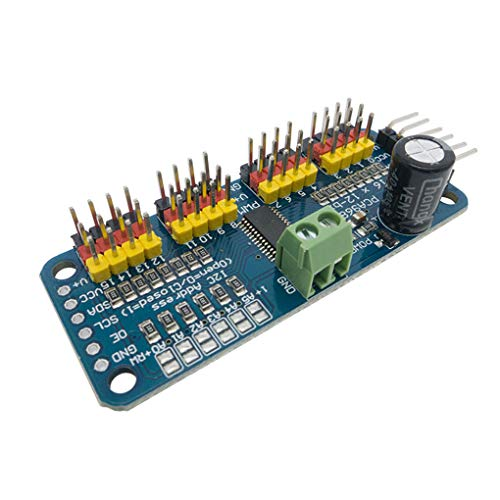 Diamoen PCA9685 16 CH 12-Bit-PWM-Servomotortreiber Schild I2C Modul Robot Ersatz für Arduinob (Add-on-schals)