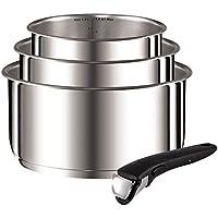 Tefal Tefal-L9419502-Ingenio Preference casseroles 16/18/20 cm + 1 Poignée Inox Non Revêtues Tous Feux Dont Induction (contient 4 pièces)