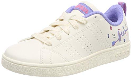 adidas Vs Advantage Cl K, Scarpe da Tennis Unisex-Bambini, Bianco (Cwhite/Chapnk/Chapur 000), 36 2/3 EU