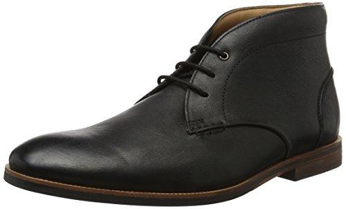Clarks Herren Broyd Mid Kurzschaft Stiefel, Schwarz (Black Leather), 44.5 EU