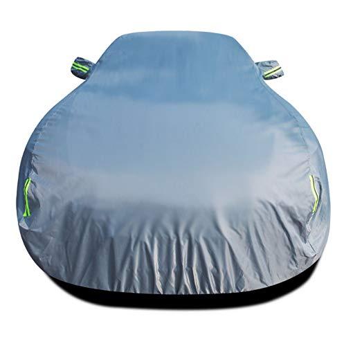 HSGZIS Copertura per Auto Completa Antivento Copertura per Neve UV Protezione per Parasole Traspirante Protezione per Auto Impermeabile,Silver-TTRS