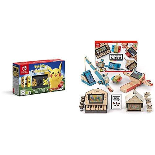 Pack Switch Pokemon Let's go Pikachu + Kit Labo Multikit
