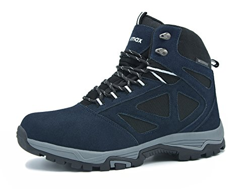 Marine Mode Trainer (Knixmax Damen Wanderschuhe Hiking Schuhe Outdoor Anti-Rutsch-Sohle Wasserdicht Trekking-Wanderhalbschuhe, Blau, 37 EU (4 UK))