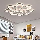 Plafonnier 60W LED Télécommande dimmable, lampe de plafond anneau créatif,...