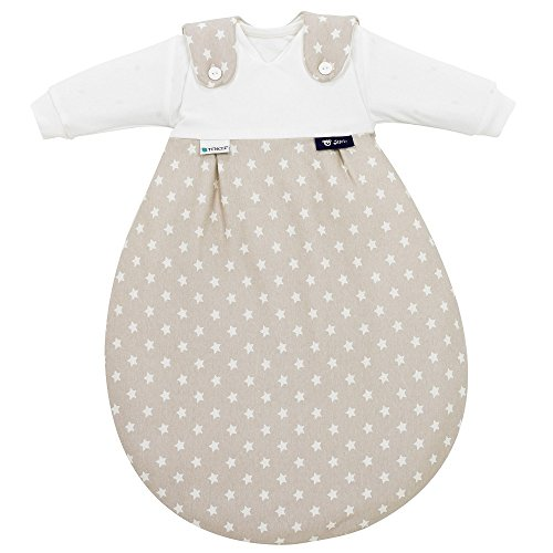 Preisvergleich Produktbild Alvi Baby Mäxchen Schlafsack Tencel 3-tlg. - Stars beige Gr. 50/56