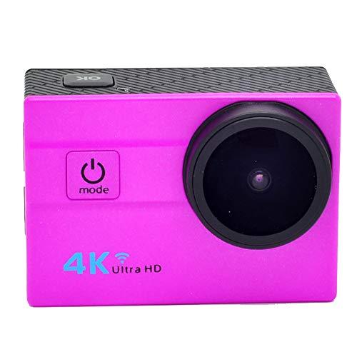 """TBY Action Camera, 4K Sport Kamera WiFi 2\""""Touchscreen 16MP Ultra HD Camcorder Wasserdichte CAM 173 ° Weitwinkel 50M Unterwasser Tauchen Für Fahrrad Klettern Schwimmen Etc,Pink"""