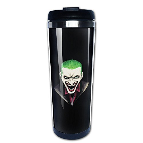 Suicidio Squad Joker al vacío taza de acero inoxidable