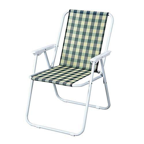 ZHongyz Leichte tragbare Klapprasen im Freien Camp Strandkorb Lounge Chair Adult einfachen Stuhl -