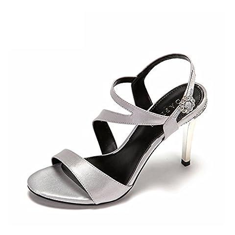 Chaussures de Dame de haute lumière/Belle façon strass boucle wedding shoes-A Longueur du pied=21.8CM(8.6Inch)