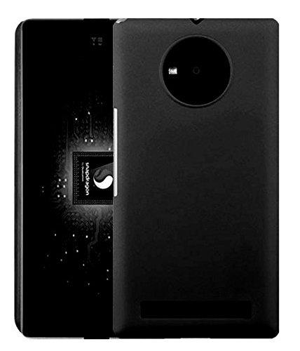 SDO Luxury Matte Finish Rubberised Slim Hard Case Back Cover for Micromax YU Yuphoria - Black