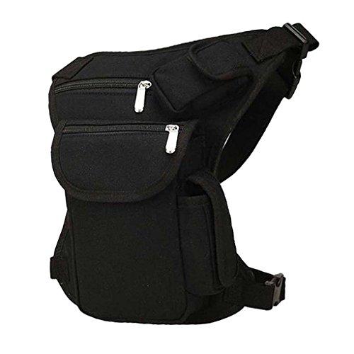 Sharplace Oberschenkeltasche Beintasche, Fahrrad Motorradtasche, Gürteltasche - Schwarz