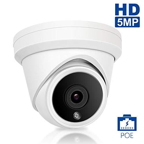 POE IP Dome Überwachungskamera, Anpviz 5MP HD 2560x1920 Outdoor Home Überwachungskamera, Nachtsicht, Bewegungserkennung, IP66 Wetterfeste Kamera - Lorex-security-kamera
