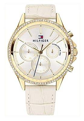 Tommy Hilfiger Reloj Multiesfera para Mujer de Cuarzo con Correa en Cuero 1781982