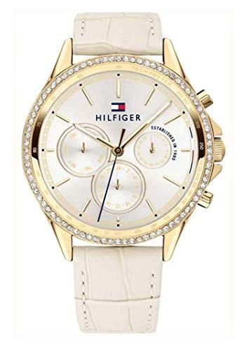 Tommy Hilfiger Damen Multi Zifferblatt Quarz Uhr mit Leder Armband 1781982