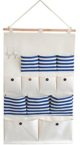 Preisvergleich Produktbild HOGAR AMO Wand Hängeorganizer Bad/Tür/Wand Hängeaufbewahrung Stoff Türtasche Wandtasche mit 12 Beutel Storage Bag Hängetasche, Badtasche