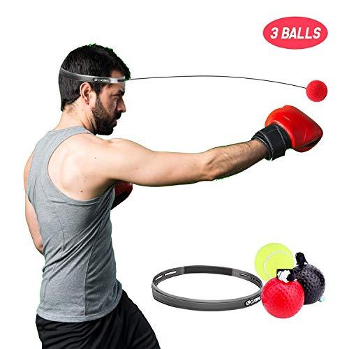 ETCBUYS Reflex Pelota de Boxeo de Entrenamiento, Equipo de Boxeo con 3 Niveles de dificultad para Mejorar la reacción, el Tiempo y la Velocidad