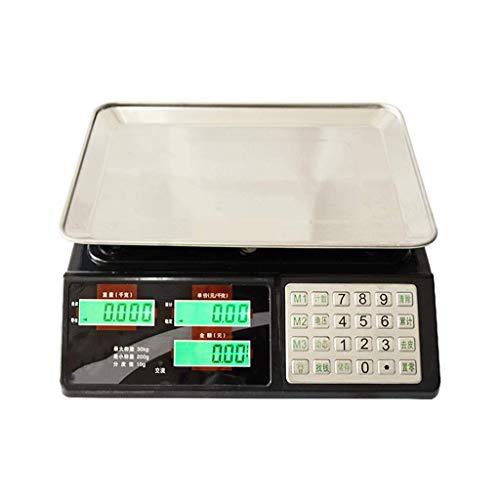 WZ Elektronische Skala, Hochpräzise 30 Kg Stahl Knopf Plattform Pricing Öffentlichen Stadt Pfund Tabelle Gewicht 1g2 Gramm Gemüse (größe : 30kg/10)