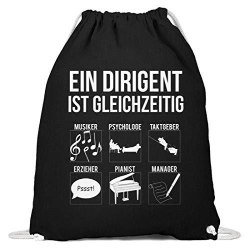 Für Musik Dirigenten Und Chorleiter - Baumwoll Gymsac -37cm-46cm-Schwarz
