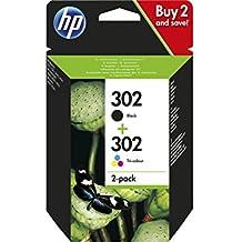 HP Pack 2 Cartouches Jet d'encre Originale N° 302 Blist Noir + Couleur