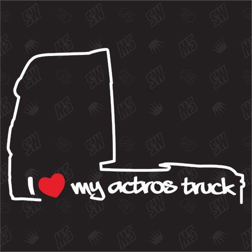 speedwerk-motorwear I Love My Actros Truck MP4 - Sticker für Mercedes Benz - ab Bj. 2011