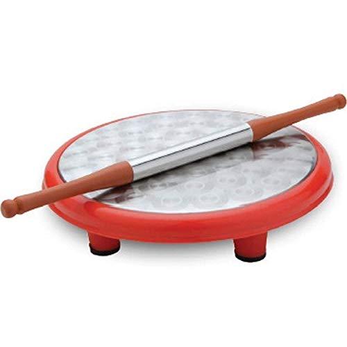 IndiaBigShop Round Roti Maker Rolling Board mit Nudelholz für Haushalt & Küche Round Rolling Pin