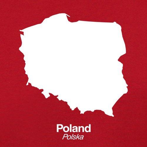 Poland / Polen Silhouette - Damen T-Shirt - 14 Farben Rot