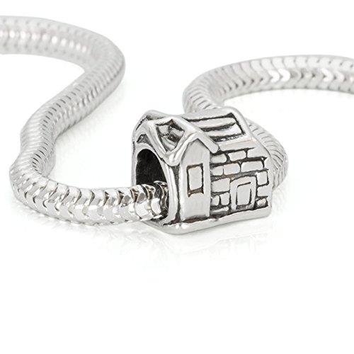Hochwertiger Original 925 Sterling Silber antike Stil Bead Haus Element #b475